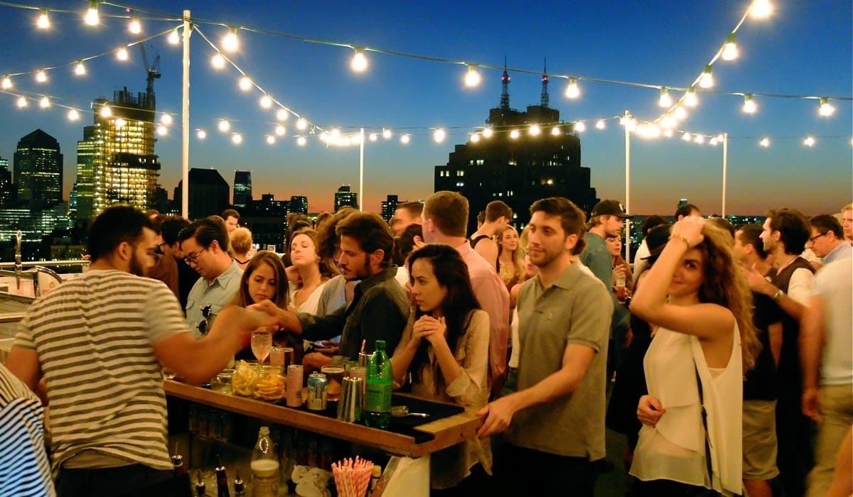 Rooftop party a New York con BeBorghi