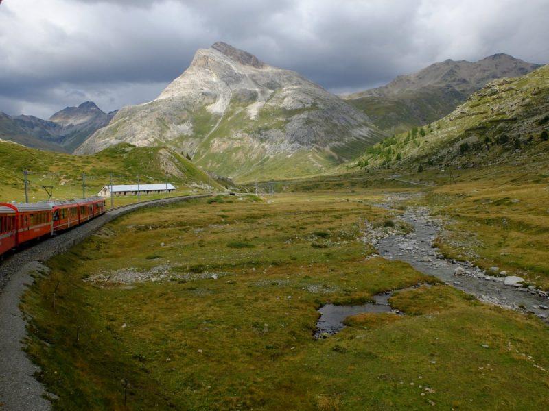 Vista dal Bernina Express - Il trenino rosso del bernina