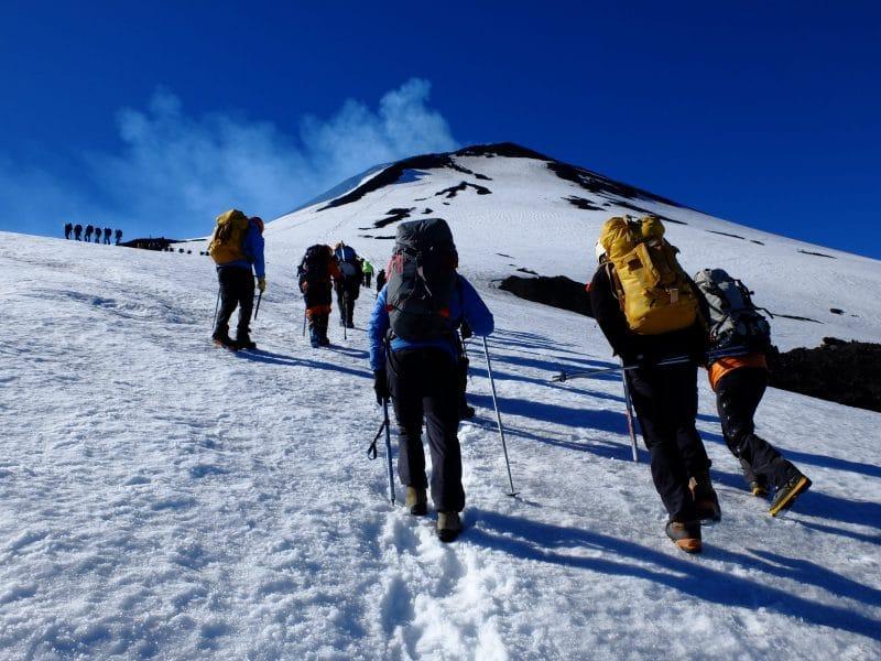 cile del sud: trekking sul cratere del vulcano Villarica