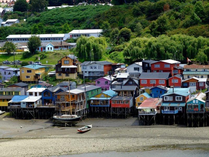 Cile del sud: palafitos a castro nell'isola di Chiloé