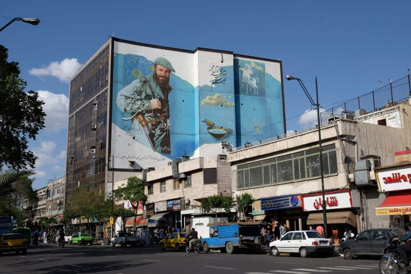 Viaggio in Iran - street art a Teheran