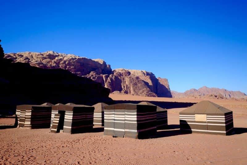 Giordania - campo tendato nel Wadi Rum