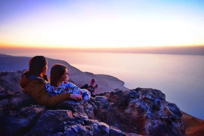 Giordania- tramonto sul Mar Morto