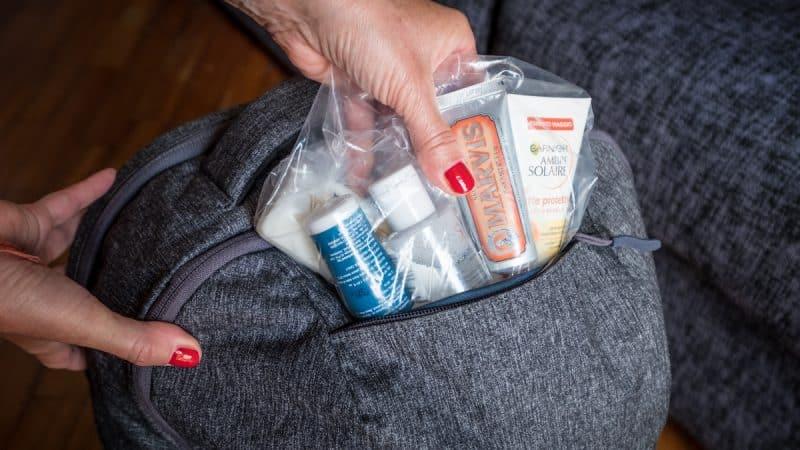 cosa portare nel bagaglio a mano: i liquidi