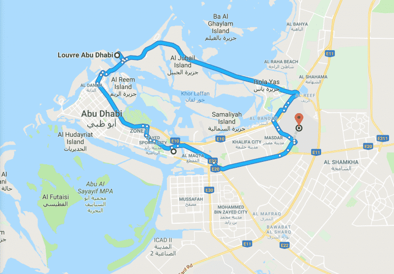 itinerario 1 giorno Abu Dhabi