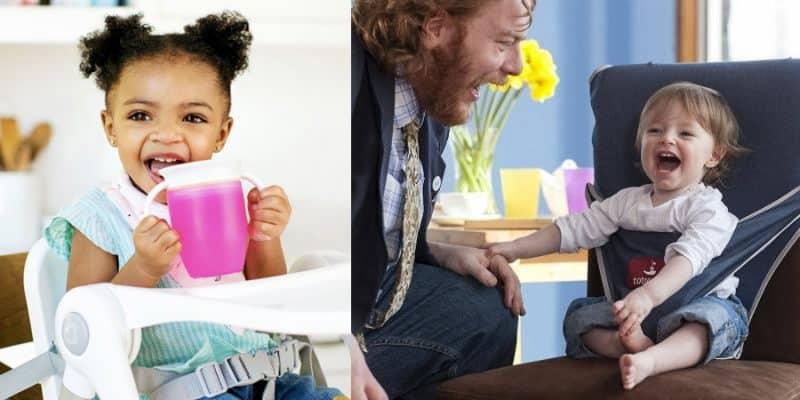 tazza magica e seggiolone da viaggio per bambini