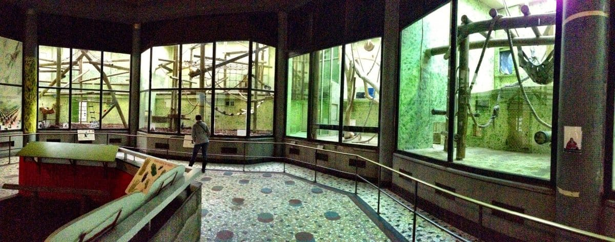 il vivarium della Ménagerie del Jardin des Plantes
