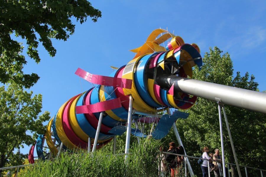 il mega scivolo del Jardin du dragon a Parigi