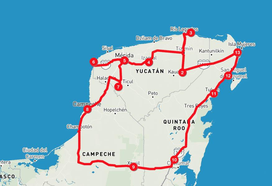 Itinerario Yucatan