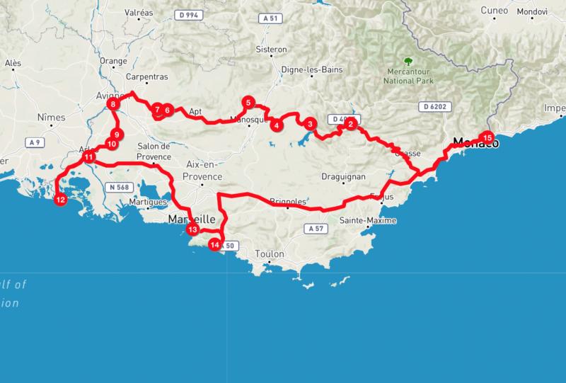provenza Itinerario