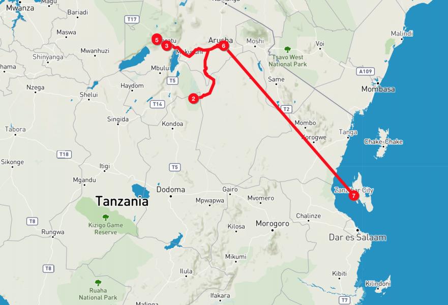 Tanzania-Safari_Itinerario
