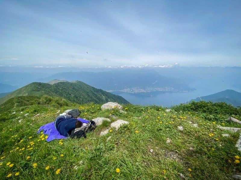 trekking vicino Milano -Monte San Primo
