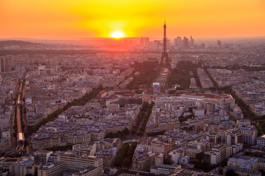 Parigi- Vista al tramonto dalla Tour Montparnasse