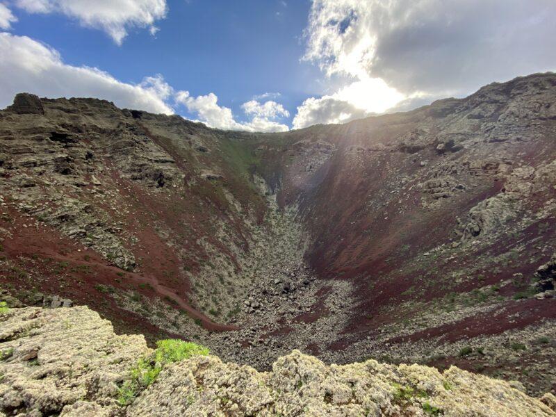 trekking a Lanzarote - volcan de la corona