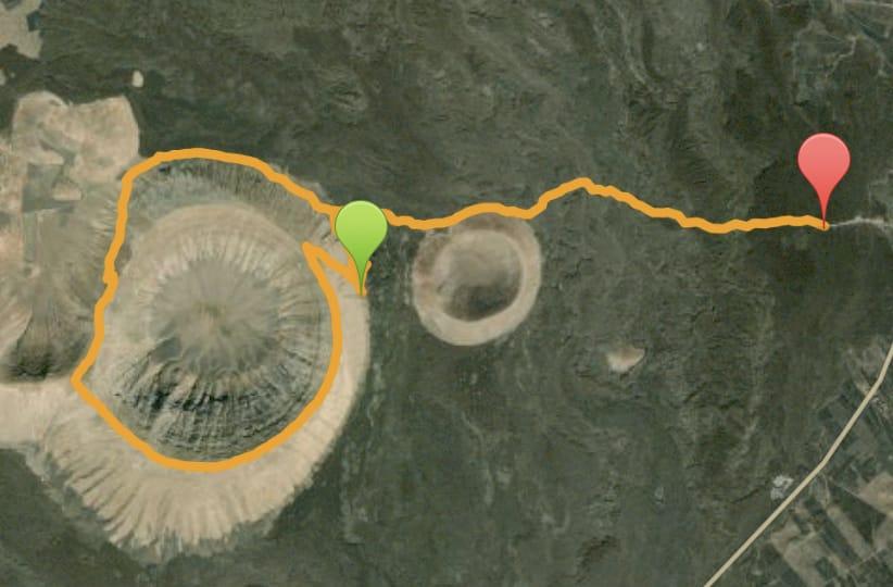 Caldera Blanca- mappa