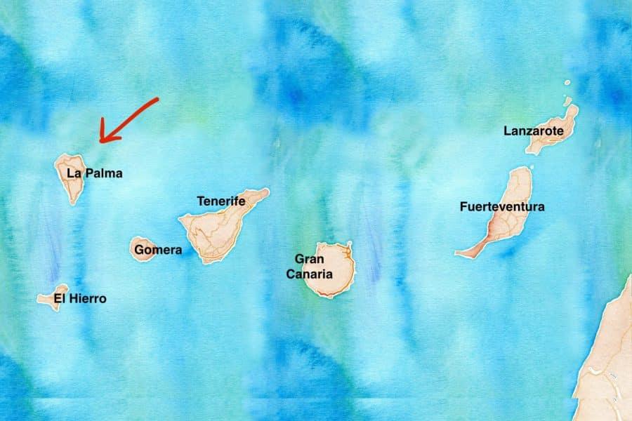mappa La Palma