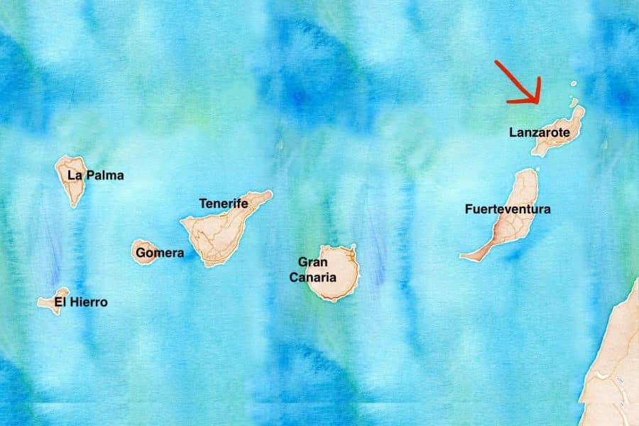 Mappa Lanzarote