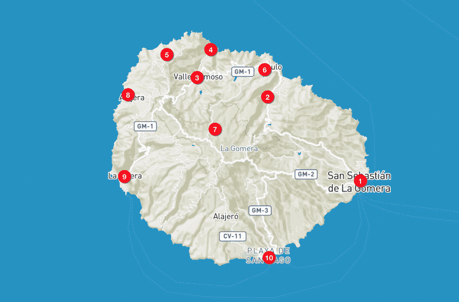 Mappa La Gomera