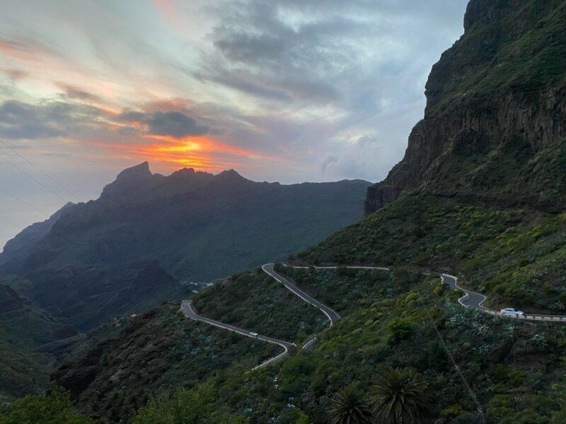 strada per Masca al tramonto (Tenerife)