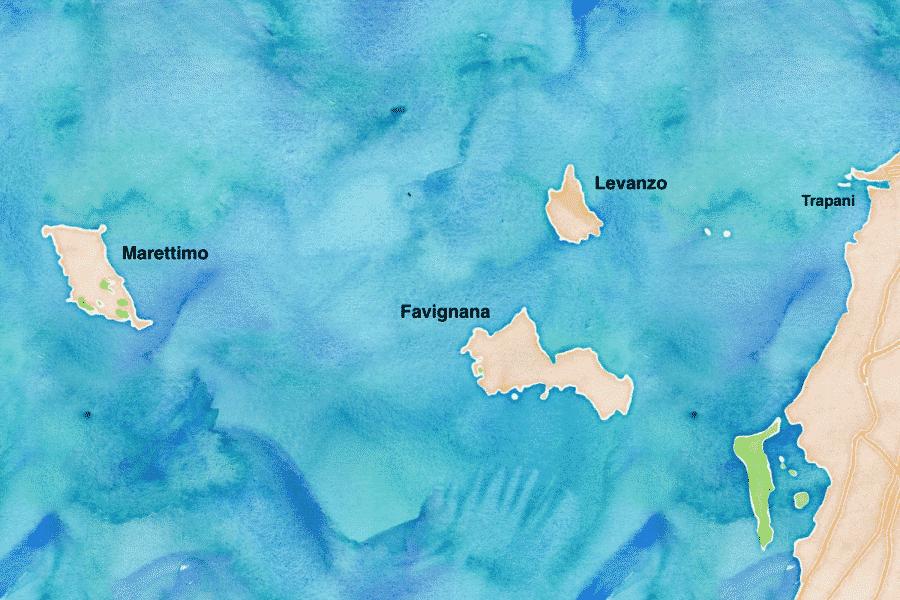 Dove si trova Levanzo - mappa