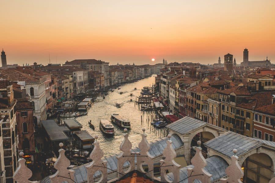 Canal Grande visto dalla terrazza del Fondaco dei Tedeschi - Venezia