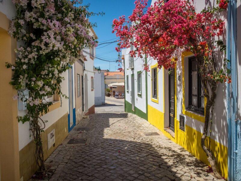 Ferragudo - villaggio di pescatori in   Algarve