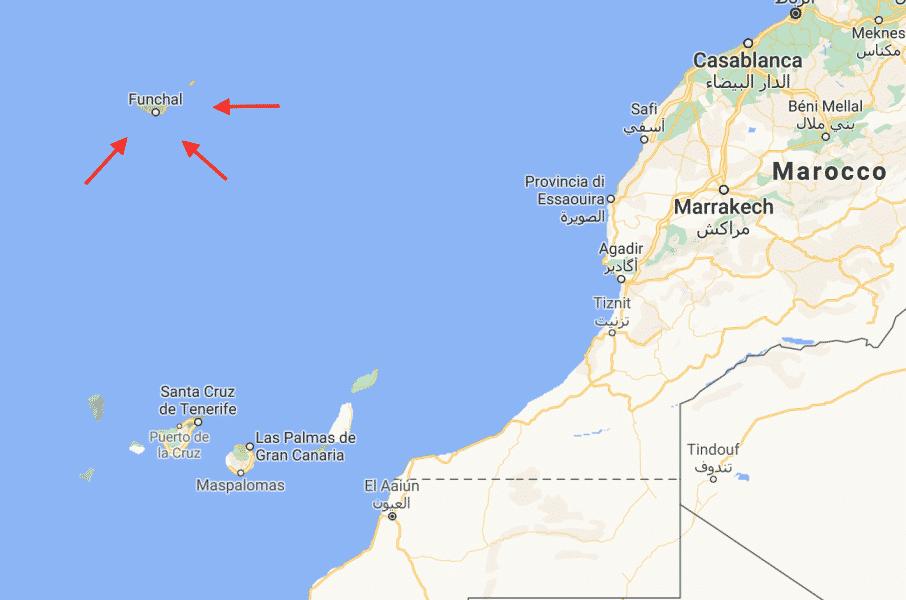 Dove si trova Madeira