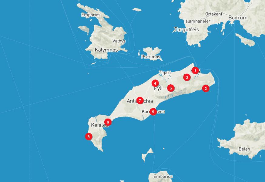 Cartina di Kos