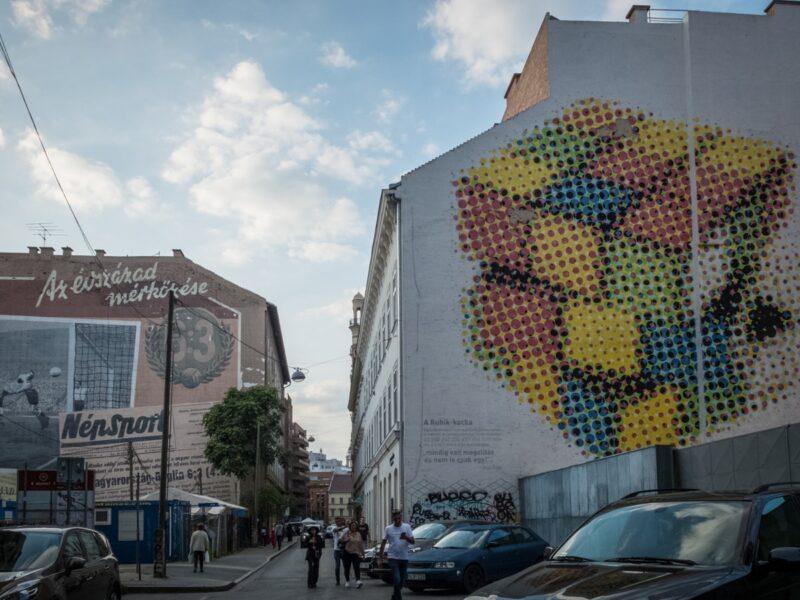 street art nel Quartiere ebraico di Budapest